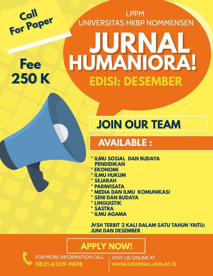 Call For Paper JVSH Edisi Desember